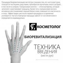 КИСТИ РУК БИОРЕВИТАЛИЗАЦИЯ - ТЕХНИКИ ВВЕДЕНИЯ